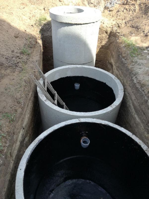 установка септика из бетонных колец под ключ